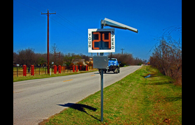 Radar Speed Sign Will Help Authority To Regulate The Speed